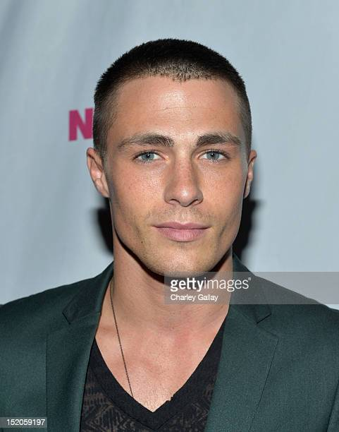 Actor Colton Haynes arrives at the NYLON and And Sony X Headphones September TV issue launch event with cover star Lea Michele at Mr C Beverly Hills...