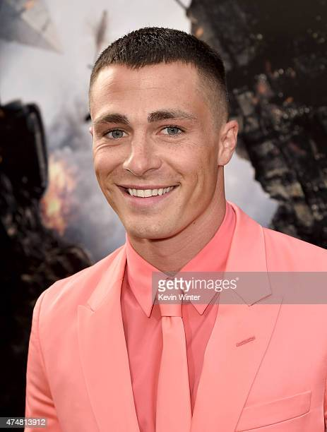 Actor Colton Haynes arrives at the premiere of Warner Bros Pictures' San Andreas at TCL Chinese Theatre on May 26 2015 in Hollywood California