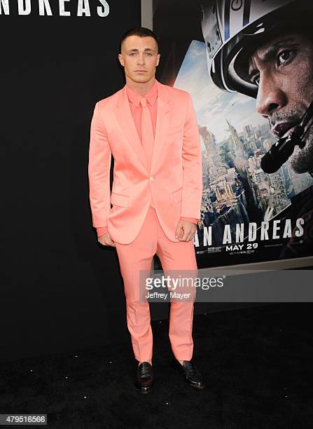 Actor Colton Haynes arrives at the 'San Andreas' Los Angeles Premiere at TCL Chinese Theatre IMAX on May 26 2015 in Hollywood California