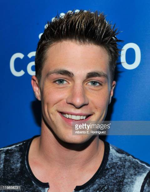 Actor Colton Haynes attends a live chat at Cambio Studios on July 25 2011 in Hollywood California