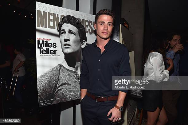 Actor Colton Haynes attends MEN'S FITNESS Celebration of The 2015 Game Changers on September 24 2015 in West Hollywood California