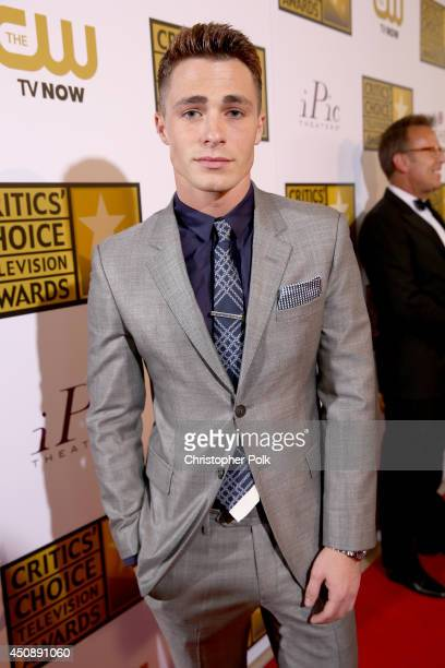 Actor Colton Haynes attends the 4th Annual Critics' Choice Television Awards at The Beverly Hilton Hotel on June 19 2014 in Beverly Hills California