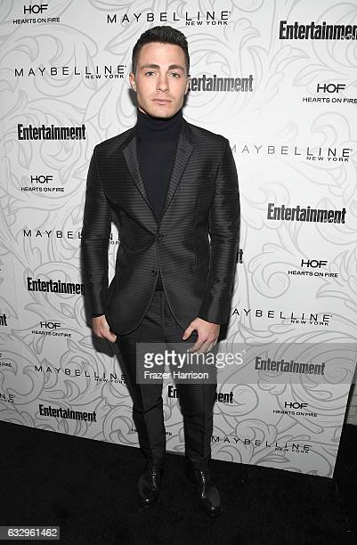 Actor Colton Haynes attends the Entertainment Weekly Celebration of SAG Award Nominees sponsored by Maybelline New York at Chateau Marmont on January...