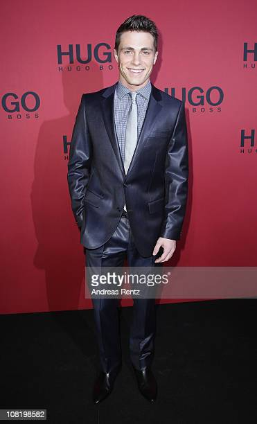 Actor Colton Haynes attends the Hugo Boss Show during the Mercedes Benz Fashion Week Autumn/Winter 2011 at Neue Nationalgalerie on January 20 2011 in...