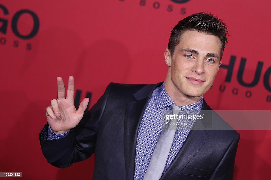 Actor Colton Haynes attends the Hugo Boss Show during the Mercedes Benz Fashion Week Autumn/Winter 2011 at Neue Nationalgalerie on January 20, 2011 in Berlin, Germany.