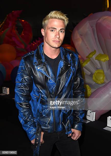 Actor Colton Haynes attends the Moschino Spring/Summer 17 Menswear and Women's Resort Collection during MADE LA at LA LIVE Event Deck on June 10 2016...