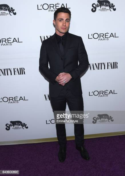 Actor Colton Haynes attends Vanity Fair and L'Oreal Paris Toast to Young Hollywood hosted by Dakota Johnson and Krista Smith at Delilah on February...