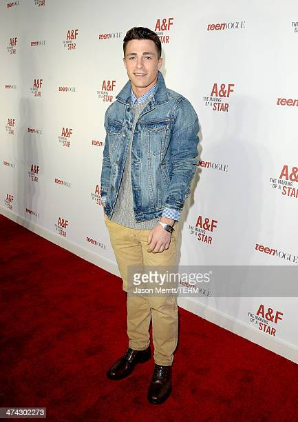 """Actor Colton Haynes celebrates the Abercrombie Fitch """"The Making of a Star"""" Spring Campaign Party in Hollywood CA on February 22 2014"""