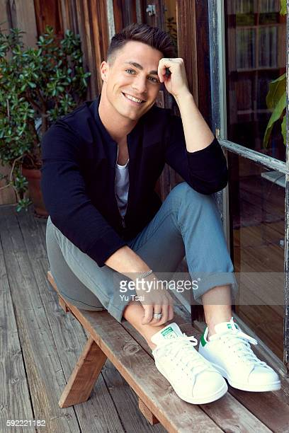 Actor Colton Haynes is photographed for Entertainment Weekly Magazine on April 19 2016 in Los Angeles CaliforniaPublished Image