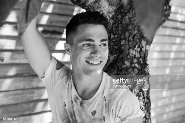 Actor Colton Haynes is photographed for Self Assignment on May 28 2016 in Los Angeles California