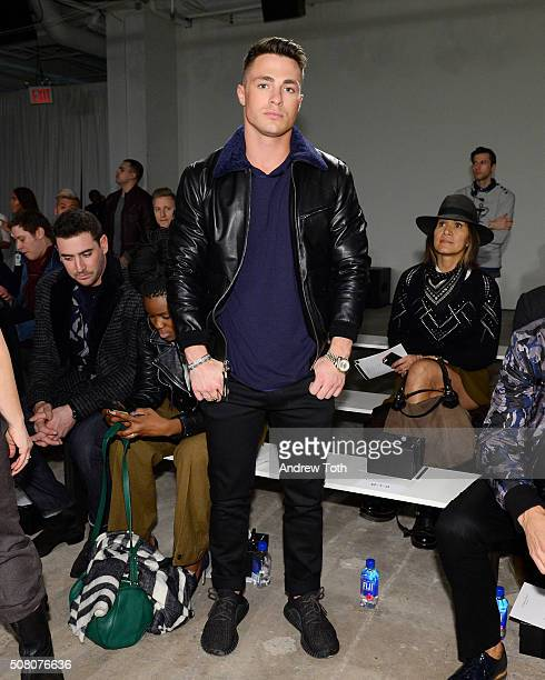 Actor Colton Haynes is seen front row during Ovadia Sons New York Fashion Week Men's Fall/Winter 2016 at Skylight at Clarkson Sq on February 2 2016...
