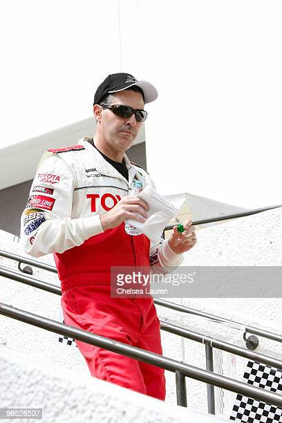 Actor / comedian Adam Carolla attends the Toyota Grand Prix Pro / Celebrity Race Day on April 17 2010 in Long Beach California