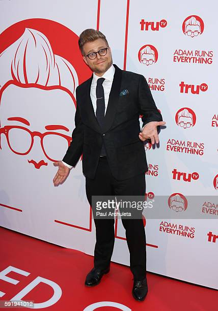 Actor / Comedian Adam Conover attends the screening and reception for truTV's 'Adam Ruins Everything' at The Library at The Redbury on August 18 2016...