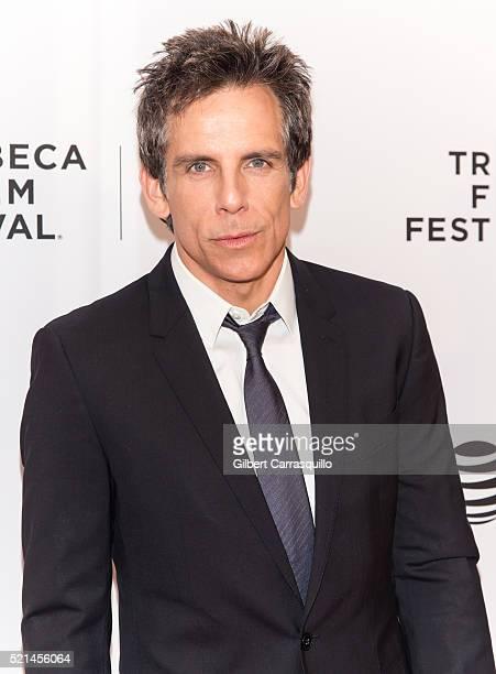 Actor comedian and filmmaker Ben Stiller attends the 'Little Boxes' Premiere during 2016 Tribeca Film Festival at Chelsea Bow Tie Cinemas on April 15...