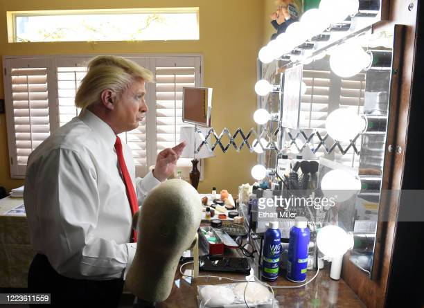 Actor comedian and writer John Di Domenico gets into character as he gets ready to record videos for the Cameo personalized message website as US...