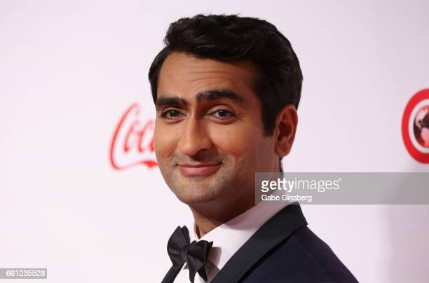 Actor comedian and writer Kumail Nanjiani recipient of the Comedy Star of the Year Award attends the CinemaCon Big Screen Achievement Awards at Omnia...