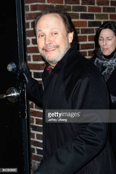 Actor / Comedian Billy Crystal visits Late Show with David Letterman at the Ed Sullivan Theater on January 12 2009 in New York City