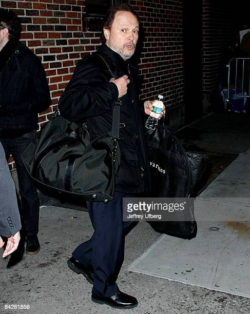 Actor /Comedian Billy Crystal visits Late Show with David Letterman at the Ed Sullivan Theater on January 12 2009 in New York City