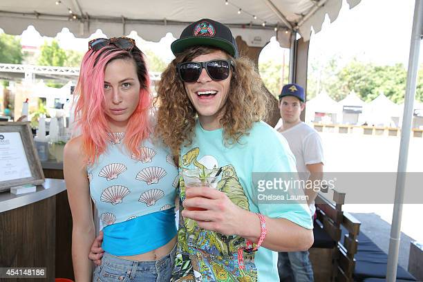 Actor / comedian Blake Anderson and wife Rachael Finley attend day 2 of FYF Fest at Los Angeles Sports Arena on August 24 2014 in Los Angeles...