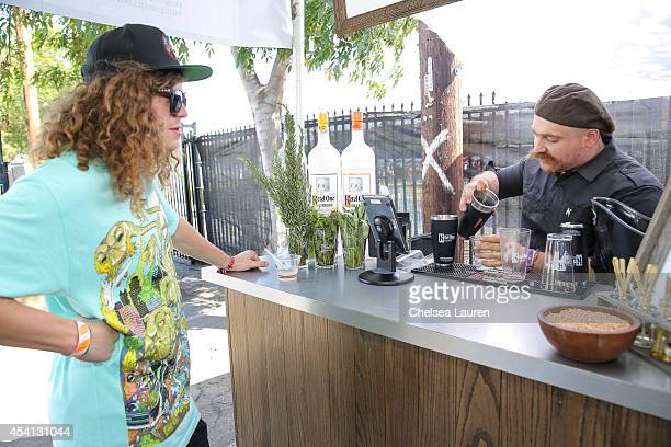 Actor / comedian Blake Anderson visits the De Nolet FYF lounge presented by Ketel One Vodka on August 24 2014 in Los Angeles California
