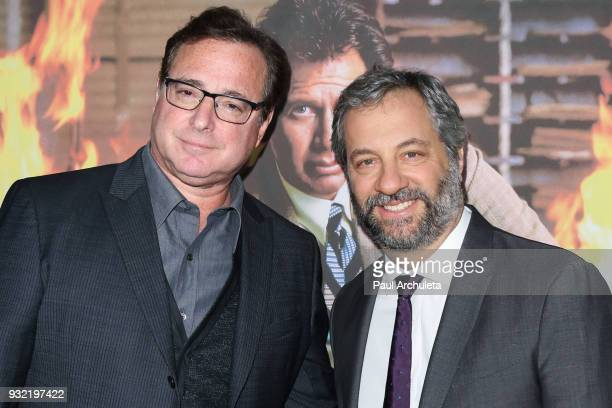 Actor / Comedian Bob Saget and Producer / Comedian Judd Apatow attend the screening of HBO's 'The Zen Diaries Of Garry Shandling' at Avalon on March...