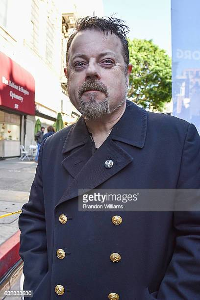 Actor / comedian Eddie Izzard attends Women's March Los Angeles on January 21 2017 in Los Angeles California