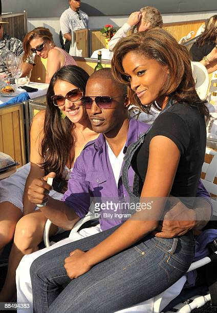 Actor/ comedian Jamie Foxx and actress Claudia Jordan attend day 2 of the 31st Annual Playboy Jazz Festival at the Hollywood Bowl on June 14 2009 in...