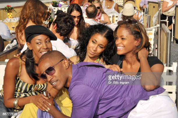 Actor/ comedian Jamie Foxx and actress Claudia Jordan attends day 2 of the 31st Annual Playboy Jazz Festival at the Hollywood Bowl on June 14 2009 in...