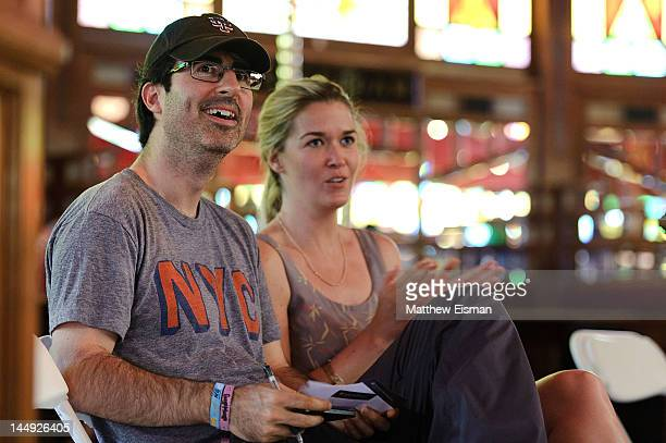 Actor/ comedian John Oliver attends the 2012 Great GoogaMooga Food and Music Festival in Prospect Park on May 20 2012 in the Brooklyn borough of New...