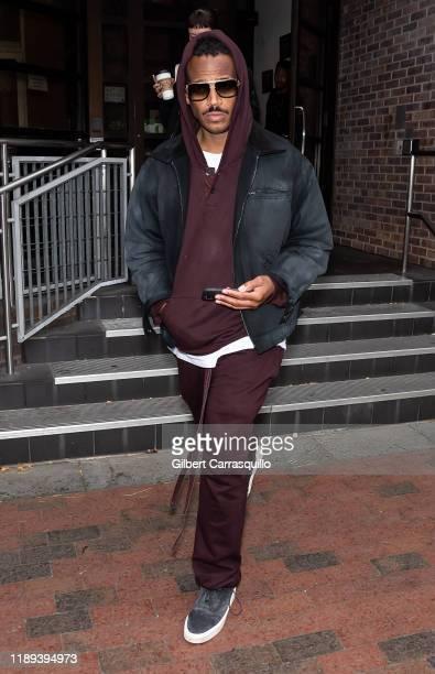 Actor comedian Marlon Wayans is seen leaving Fox 29's 'Good Day' at FOX 29 Studios on November 22 2019 in Philadelphia Pennsylvania