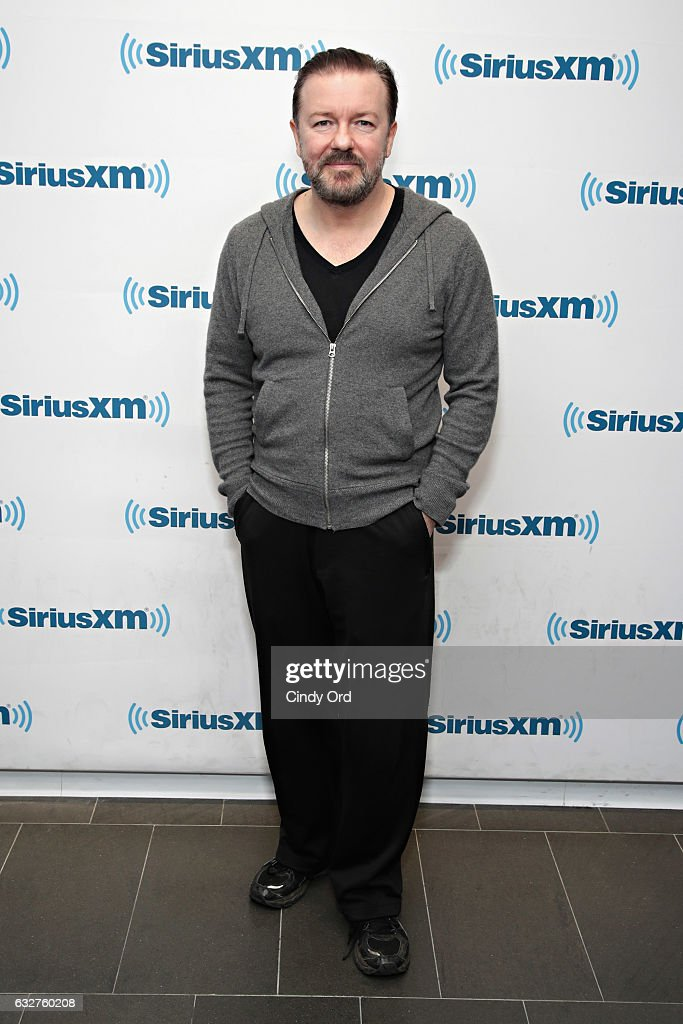 Actor/ Comedian Ricky Gervais is interviewed for SiriusXM's Town Hall Series with hosts Jim Norton and Sam Robertson on January 26, 2017 in New York City.