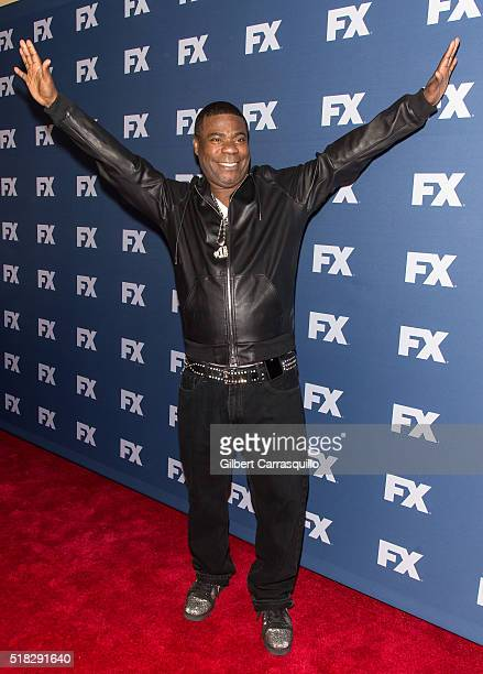 Actor comedian Tracy Morgan attends FX Networks Upfront screening of The People v OJ Simpson American Crime Story at AMC Empire 25 theater on March...