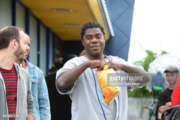 Actor comedian Tracy Morgan was on set filming a TV show entitled 'The Last OG' at an old Burger King long closed down on Knapp Street in Sheepshead...