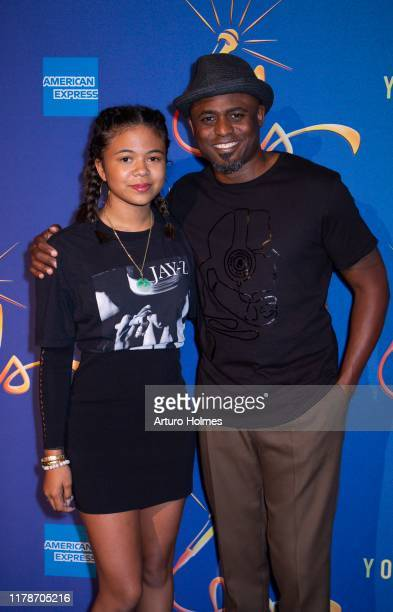 Actor/ comedian Wayne Brady and daughter Maile Masako Brady attend the Freestyle Love Supreme after party at Second on October 02 2019 in New York...