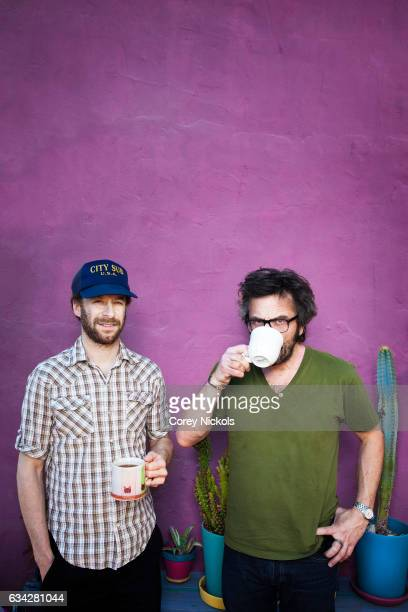 Actor comedian writer producer and director Jon Glaser and Marc Maron are photographed for Emmy Magazine on February 10 2012 in Los Angeles