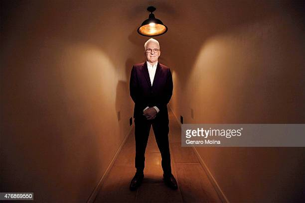 Actor comic musician and producer Steve Martin is photographed for Los Angeles Times on April 22 2015 in Los Angeles California PUBLISHED IMAGE...