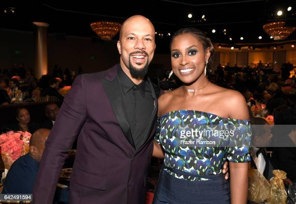 Actor Common and honoree Issa Rae attend BET Presents the American Black Film Festival Honors on February 17 2017 in Beverly Hills California
