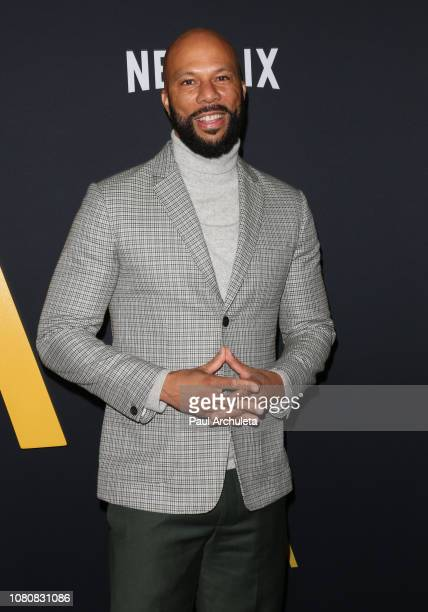 Actor Common attends the premiere of Roma at the American Cinematheque's Egyptian Theatre on December 10 2018 in Hollywood California