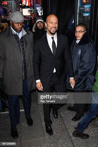 Actor Common enters the 'Good Morning America' taping at the ABC Times Square Studios on January 5 2015 in New York City