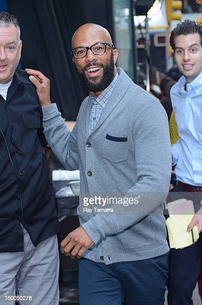 Actor Common leaves the 'Good Morning America' taping at the ABC Times Square Studios on August 9 2012 in New York City