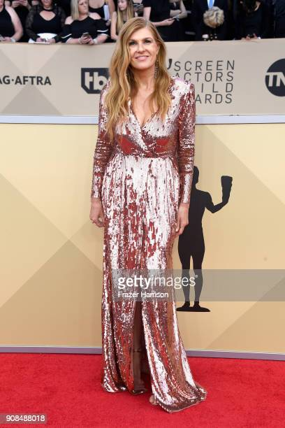 Actor Connie Britton attends the 24th Annual Screen Actors Guild Awards at The Shrine Auditorium on January 21 2018 in Los Angeles California