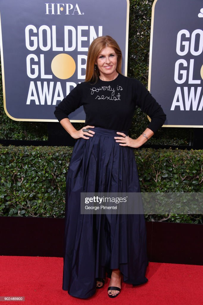 Actor Connie Britton attends The 75th Annual Golden Globe Awards at The Beverly Hilton Hotel on January 7, 2018 in Beverly Hills, California.