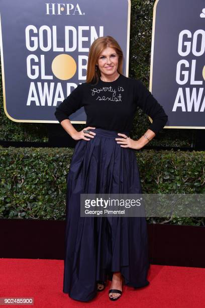 Actor Connie Britton attends The 75th Annual Golden Globe Awards at The Beverly Hilton Hotel on January 7 2018 in Beverly Hills California
