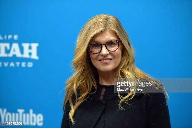 """Actor Connie Britton attends the """"The Mustang"""" Premiere during the 2019 Sundance Film Festival at Eccles Center Theatre on January 31, 2019 in Park..."""
