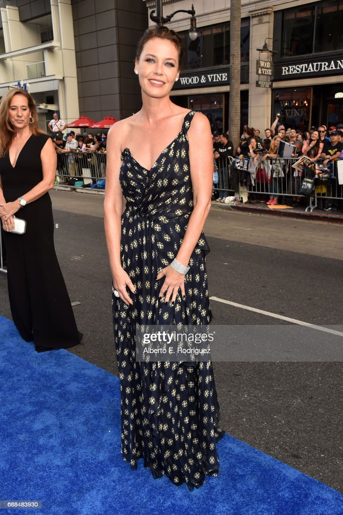 Actor Connie Nielsen attends the premiere of Warner Bros. Pictures' 'Wonder Woman' at the Pantages Theatre on May 25, 2017 in Hollywood, California.