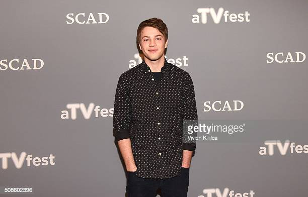 Actor Connor Jessup attends American Crime event during aTVfest 2016 presented by SCAD on February 5 2016 in Atlanta Georgia