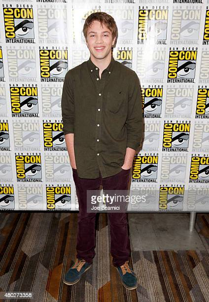 Actor Connor Jessup attends the Falling Skies press room during TNT at ComicCon International San Diego 2015 on July 10 2015 in San Diego California...
