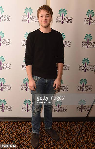 Actor Connor Jessup attends the US Premiere of Closet Monster at the 27th Annual Palm Springs International Film Festival on January 3 2016 in Palm...