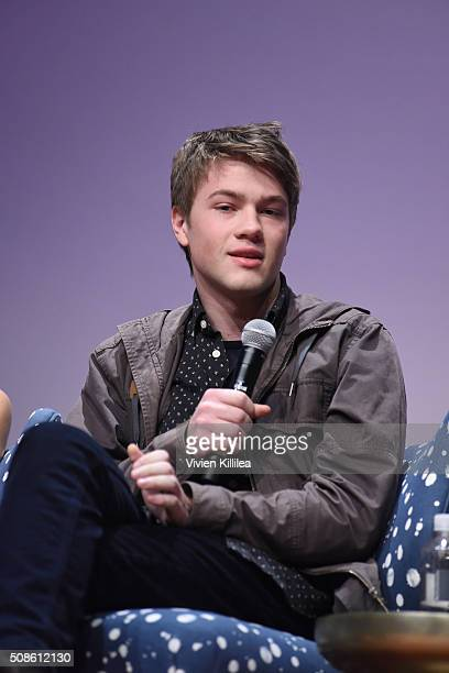 Actor Connor Jessup speaks on stage during American Crime event during aTVfest 2016 presented by SCAD on February 5 2016 in Atlanta Georgia