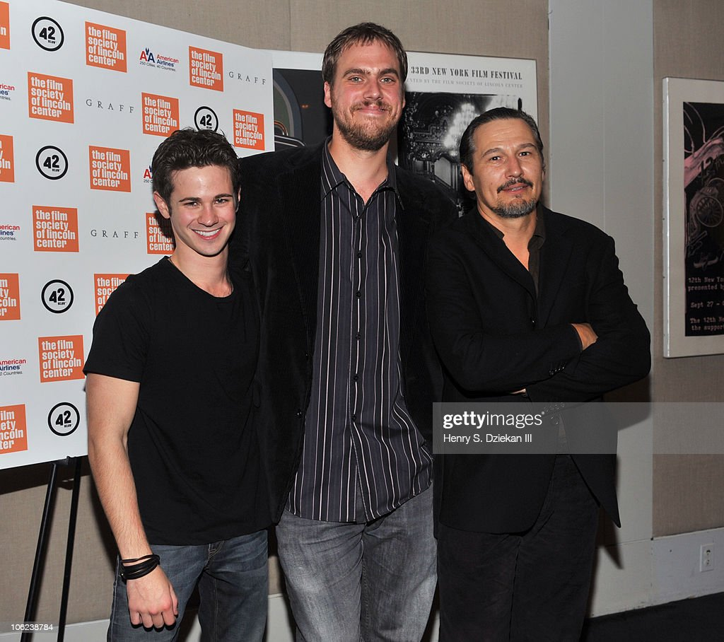 Actor Connor Paolo, director Jim Mickle and actor Nick Damici attend the 'Stake Land' premiere at The Film Society of Lincoln Center on October 27, 2010 in New York City.